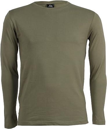 Lisa Camiseta Manga Larga Verde Militar Verde Militar L: Amazon.es: Ropa y accesorios