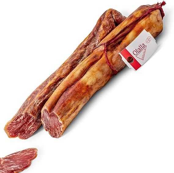 Medio Lomo de Bellota Iberico 75% Raza Iberica - Embutidos Ibericos de Bellota Pata Negra Envasados al Vacio - Manjar Delicioso - Aroma Intenso ...