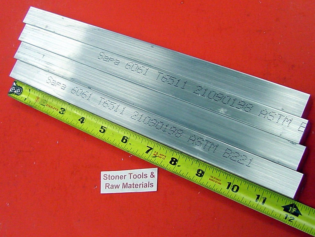 "20 Pieces 3//4/"" X 3//4/"" ALUMINUM 6061 SQUARE BAR 2/"" long T6511 New Flat Mill Stock"