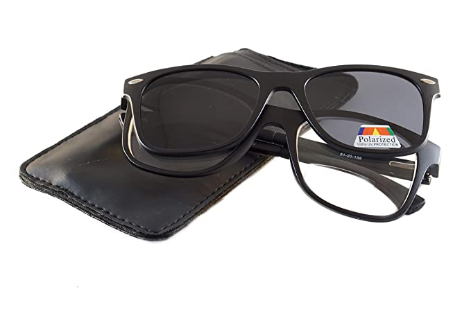 4c669ae91987 FBL Bifocal Reading With Magnetic Clip On Polarized Sunglasses In Case P021  (Black