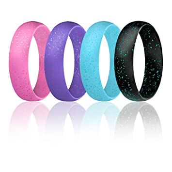 Amazoncom Silicone Wedding Ring For Women By ROQ Thin