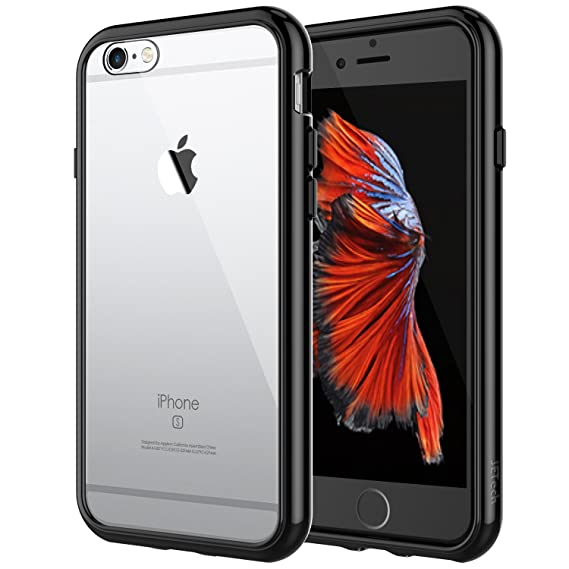 JETech Hülle für Apple iPhone 6s Plus iPhone 6 Plus, Schutzhülle mit Anti-kratzt Transparente und Rückseite, Schwarz