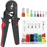 Andoer HSC8 6-4 0,25-10m㎡ AWG23-7 Kit de ferramentas de crimpagem de virola Alicate de crimpagem de alta dureza com terminal