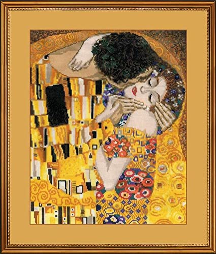 Motherly Love After G Klimt`s Painting Counted Cross Stitch Kit 12 x 14 14 Count White AIDA 24 Colors RIOLIS 916