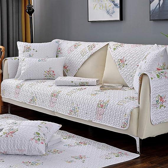 Amazon.com: Funda de sofá de algodón a cuadros para sofá o ...