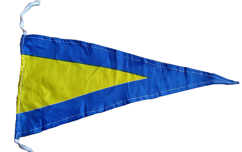 "Total 14 Flags Naval Signal Pennants Marine CODE 20/"" X 8.5/"""