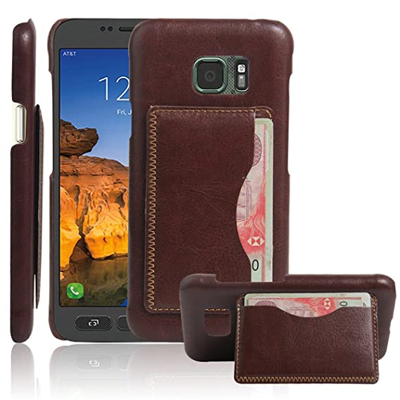 big sale f5001 460b0 Galaxy S7 Active Case,Gift_Source [Brown] [Wallet Function] Ultra Slim  Litchi Grain PU Leather Back Cover Built-in Card Slots Kickstand Protective  ...