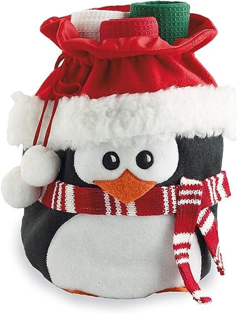 Set of 3 Christmas Cabin Penguin Dishtowel Gift Set