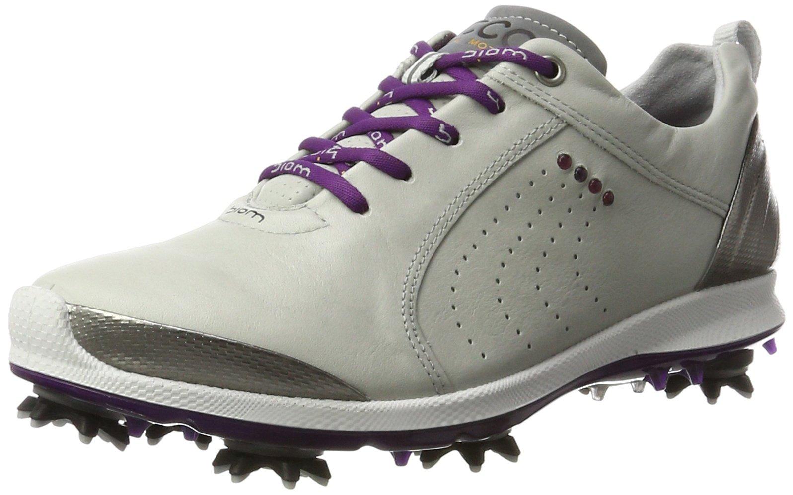ECCO Women's Boim G 2 Free Golf Shoe, Concrete/Imperial Purple, 42 EU/11-11.5 M US