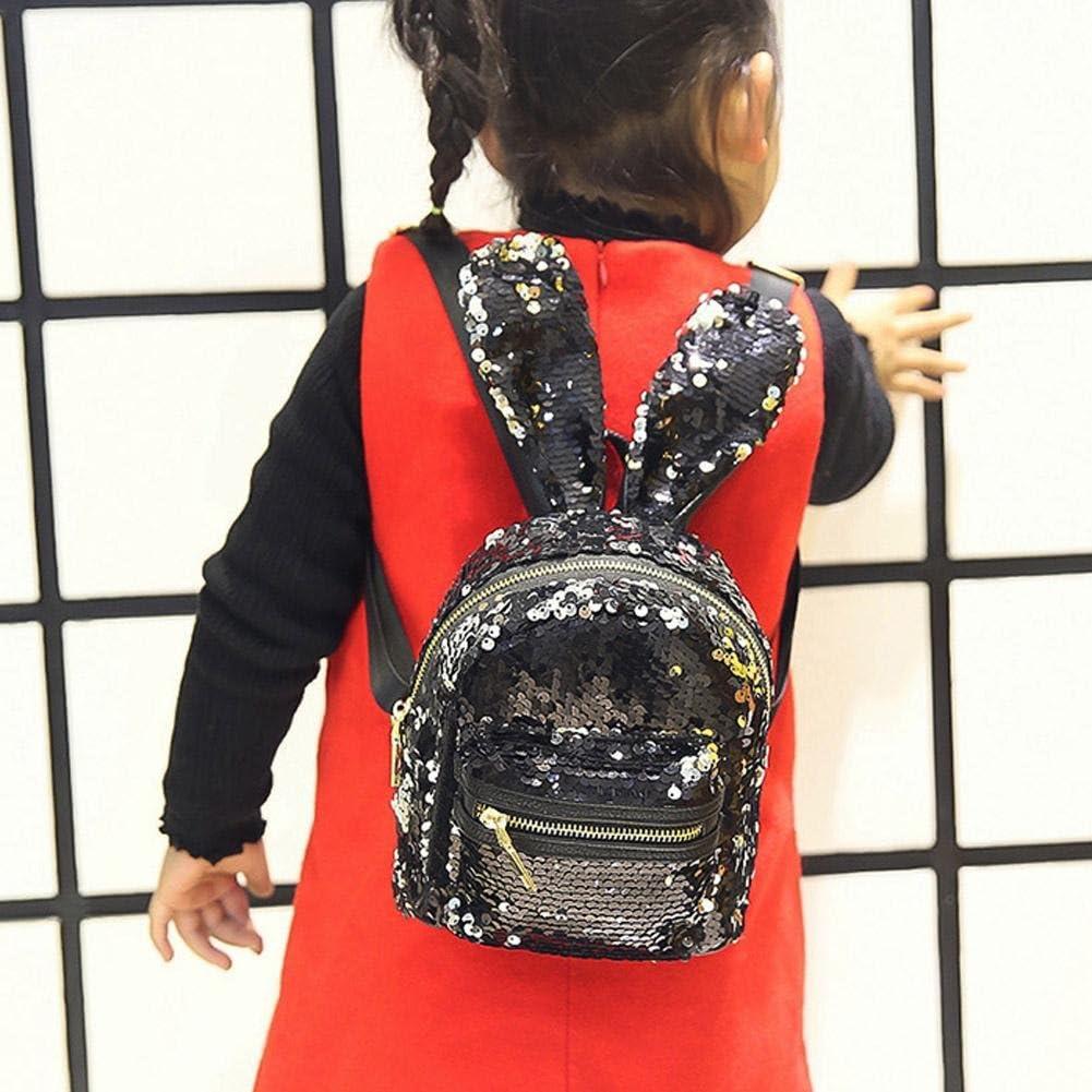 Mini Shining Sequins Backpack Rabbit Ear Shoulder Bags for Women Baby Girls ItaruRous
