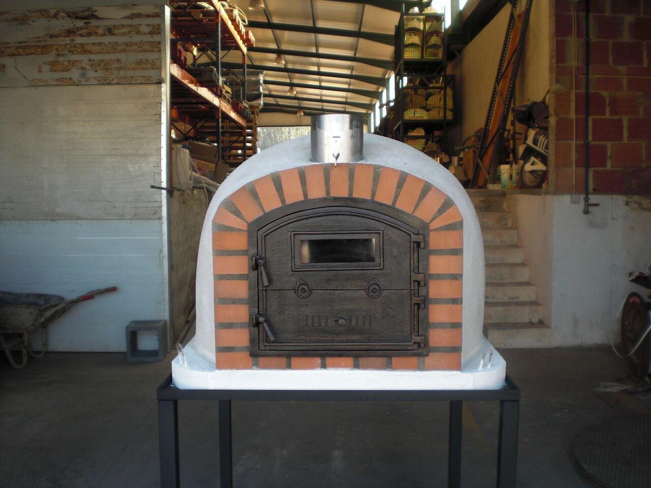 Horno de pizza de ladrillo, aislado, madera Fired, fabricada en Portugal, ladrillo o Piedra Face: Amazon.es: Jardín