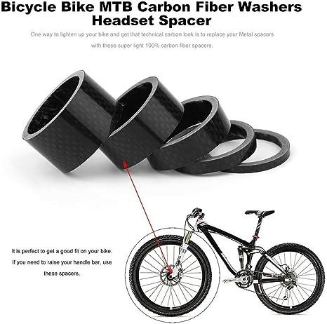 Qewmsg Bicicleta Bicicleta MTB Arandelas de Fibra de Carbono ...