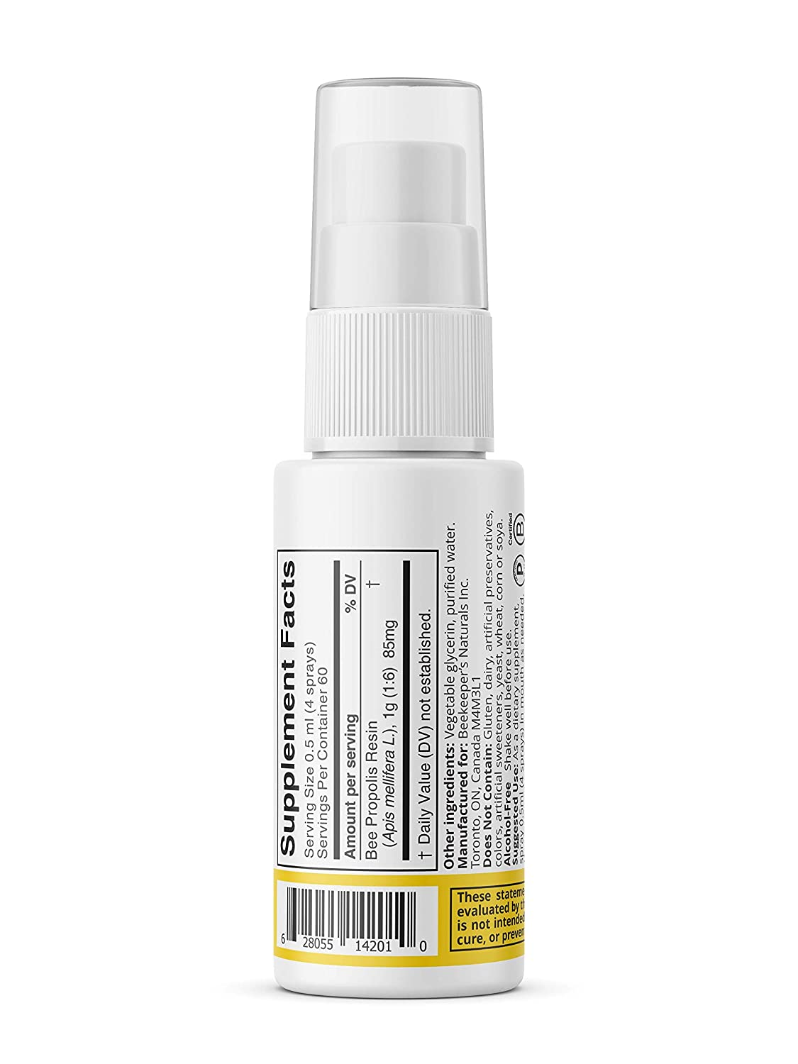 Bee Propolis Throat Spray by Beekeeper's Naturals | Premium 95% Bee  Propolis Extract | Natural Throat Relief and Immune Support | Great for  Cold & Flu