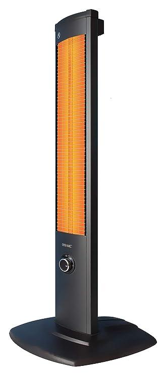 OPRANIC Thor - Estufa Infrarrojos, Perla Negro, 1500 W, Reflector de Infrarrojos, portátil, IP34, Trade-Shop Terraza eléctrico Alta eficiencia con Larga ...