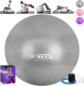 Gymnastikball 65 75 85 cm //305 kg Bürostuhl Sitzball Fitnessball Pilates Pumpe
