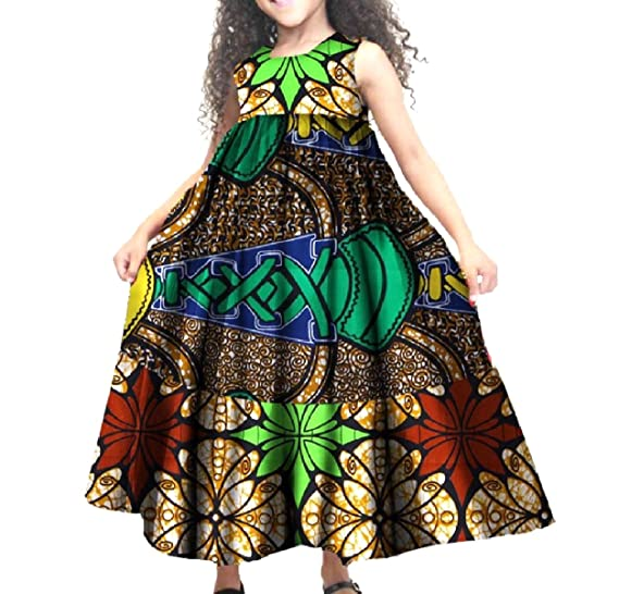 702348159f5 Amazon.com  Whitive Girl Fine Cotton African Wax Fabric Swing Bridesmaid  Dresses  Clothing