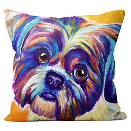 Amazoncom Shih Tzu Pillow Throw Pillow Couch Cushion Decorative