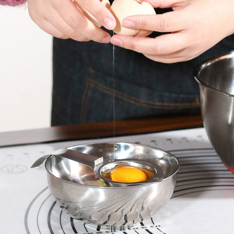 for Cooking NEPAK 4 Pack Egg Separator Premium 304 Stainless Steel Egg Yolk Separator Baking Cake Mayonnaise