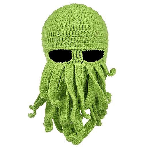 2d90c131fb8ec Vbiger Beard Hat Beanie Hat Knit Hat Winter Warm Octopus Hat Windproof Funny  for Men