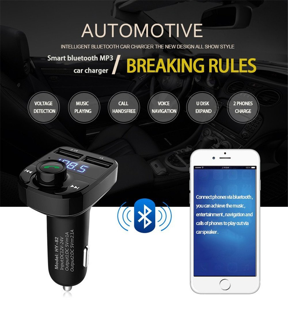 Iztoss Fm Transmitter Wireless Bluetooth Dc 5v Micro Usb Power Supply Hands Free Lcd Screen Mp3 Car Kit Radio Receiver 42a Charger Player Read Sd Card Flash