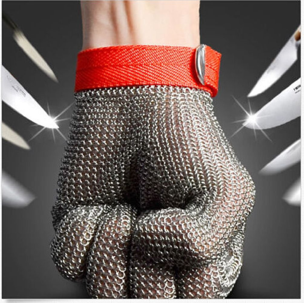 Safety Cut Proof Stab Resistant Stainless Steel Metal Mesh Butcher Work Glove by Radkell home series (Image #2)