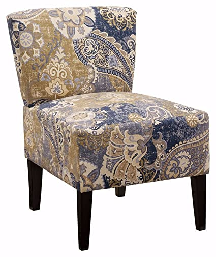 Ashley Furniture Signature Design   Ravity Accent Chair   Sophisticated  Contemporary Design   Denim Blue