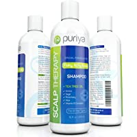Puriya Sulfate Free Anti Dandruff Shampoo with Tea Tree Oil. 16 oz. Moisturizing and Gentle for Daily Use. Combats itchy, Flaky, Dry Scalp. Ideal for Psoriasis, Seborrheic Dermatitis, scalp eczema