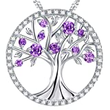 "Amazon Price History for:Valentines Day Gift for Her ""The Tree of Life"" Amethyst Necklace February Birthstone Sterling Silver"