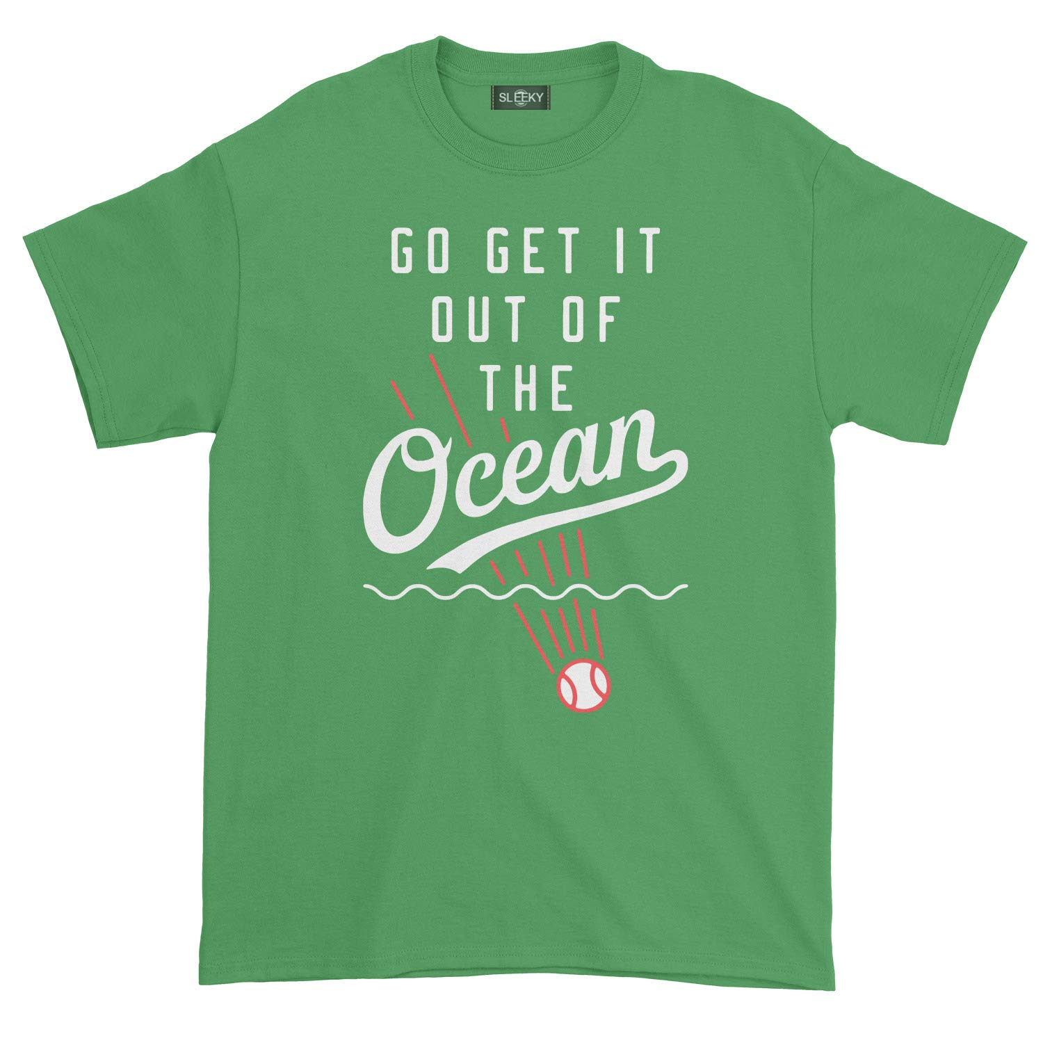 S Go Get It Out The Ocean Tshirt L Green