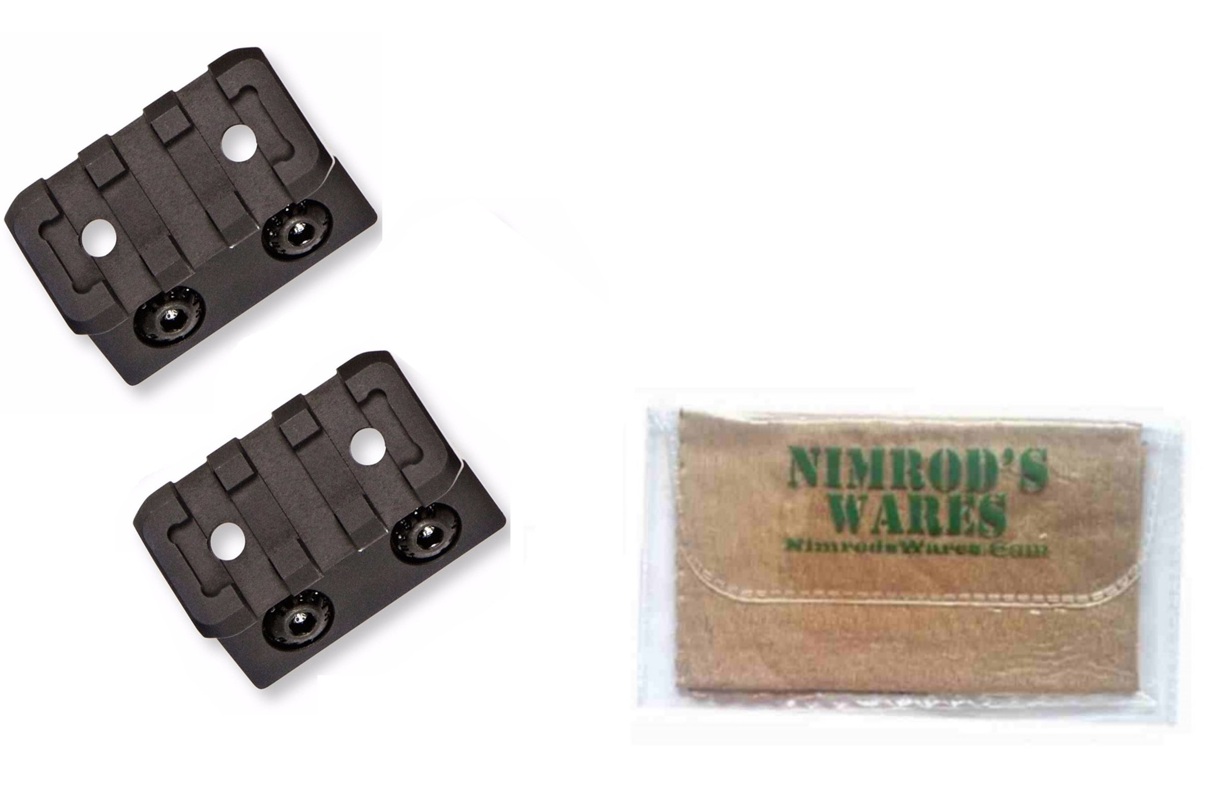 Magpul 2-Pack Offset Light/Optic Mounts M-LOK Aluminum MAG604 + Nimrod's Wares Microfiber Cloth by Magpul