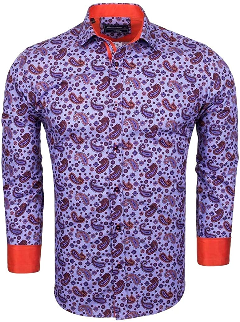 Oscar Banks - Camisa Casual - Cachemir - para Hombre Morado ...