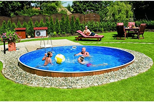 Mountfield AZURO Vario Wood V8 - Piscina de Pared de Acero (460 x ...