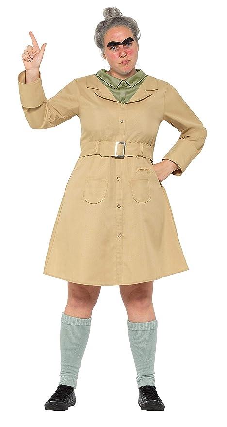 Smiffys 41537 M Roald Dahl disfraz de Miss Trunchbull, color beige, tamaño mediano,
