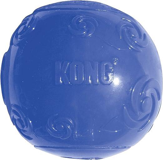 KONG - Squeezz Ball - Juguete que rebota y suena incluso pinchado ...