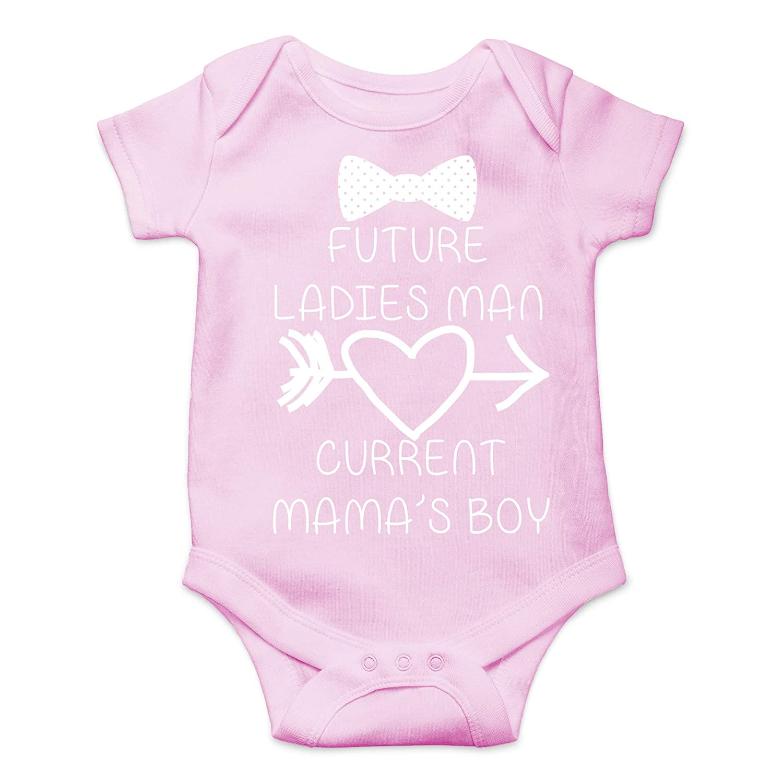 CBTwear Future Ladies Man Current Mamas Boy Funny Romper Cute Novelty Infant One-Piece Baby Bodysuit