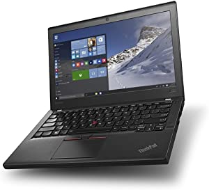 Lenovo ThinkPad X260 Business Laptop -12.5 Inch HD LED Screen - Intel Core i5-6200U up to 2.8GHz - 8GB DDR4 RAM - 256GB SDD - Windows 10 Professional -Black