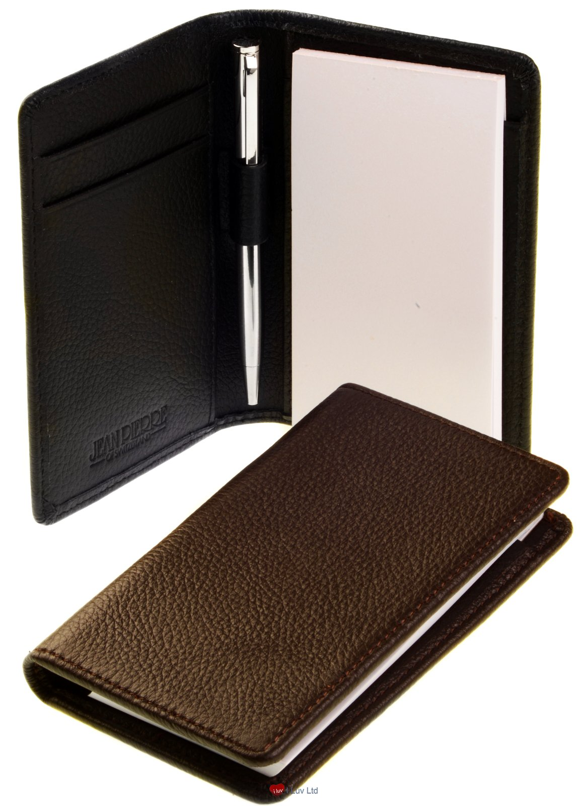 Leather Notepad Wallet with Pad and Pen