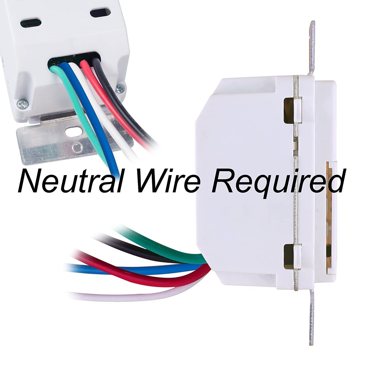Century 7 Day Programmable In Wall Timer Switch For Lights Fans And 3 Way Power To Fixture Wiring Diagram File Motors Single Pole Compatible With Spdt Both Use Neutral Wire Required