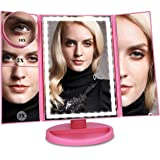 Ceenwes Upgrade Version Makeup Mirror 180°Trifold LED Vanity Mirror Adjustable Touch Screen Cosmetic Mirror with 36 LED…