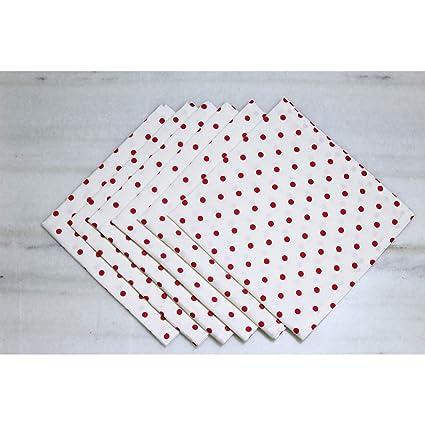 Buy SAJAVAT Export Surplus Cotton Napkin Set (6 Pieces) Online at