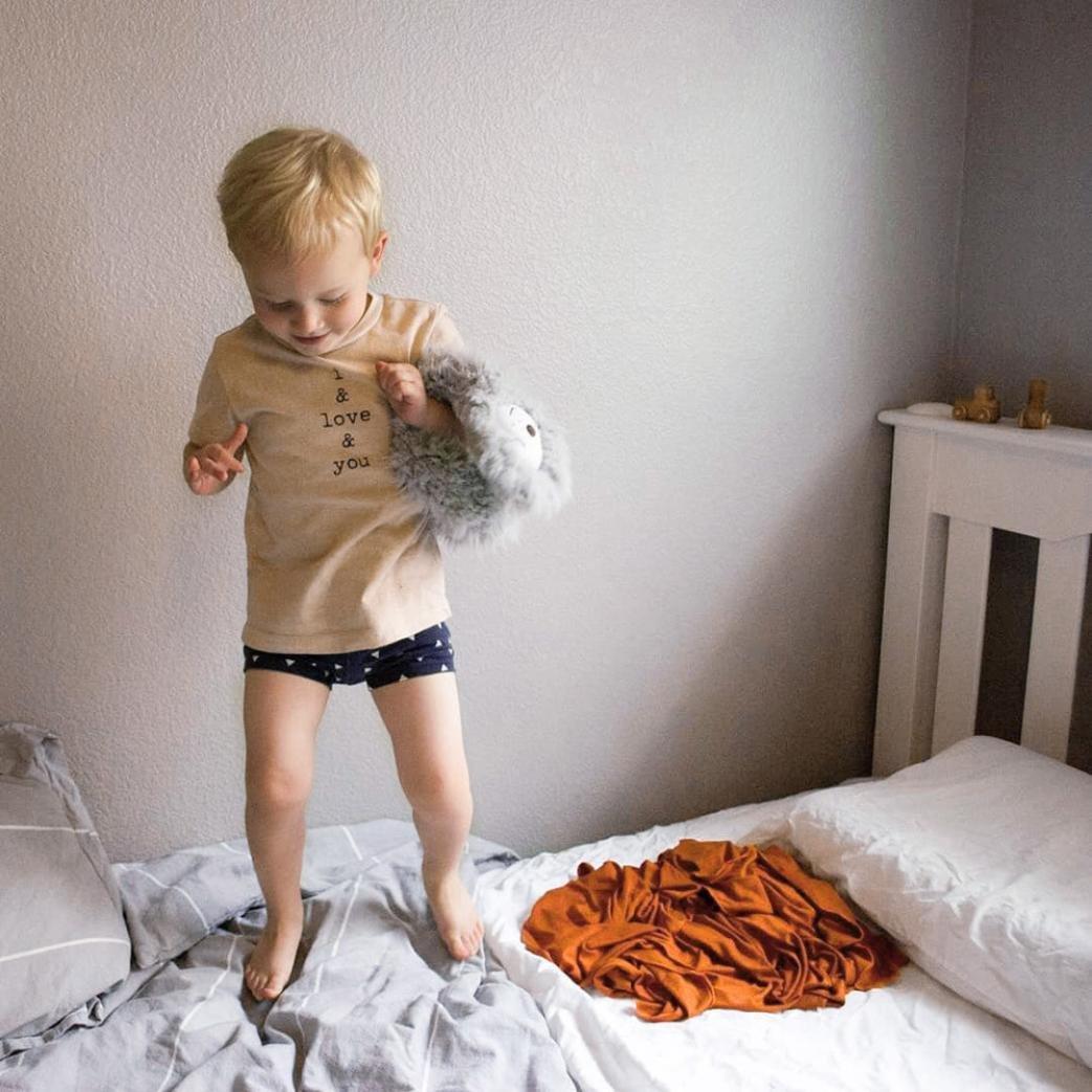 WARMSHOP 2Pcs Toddler House Clothes Set Boys Girls I Love You Letter Print Tops T-Shirt+Shorts Pajamas Outfits Set