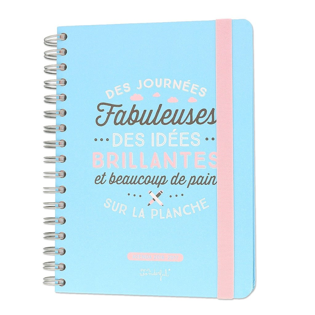 Agenda 2016-2017 Mr. Wonderful 16x22 cm Días geniales x1: Amazon ...