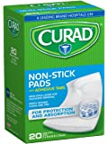 Curad Non-Stick Pads, 2 Inches X 3 Inches with Adhesive Tabs, 20 count