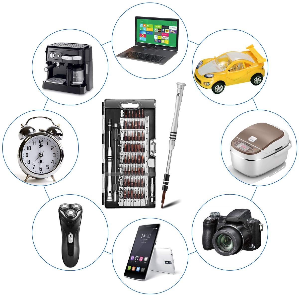 Professional Tool Kit mit Flexibler Welle f/ür Telefon//computer // Xbox//Kamera // PC//Macbook // Fahrrad Schraubendreher Set Schwarz TedGem 68 in 1 Magnetic Pr/äzisions Reparatur Werkzeug