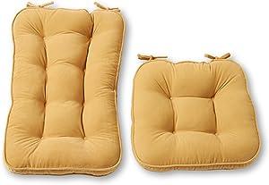 Greendale Home Fashions Hyatt 2-Piece Jumbo Rocking Chair Cushion Set, Beige