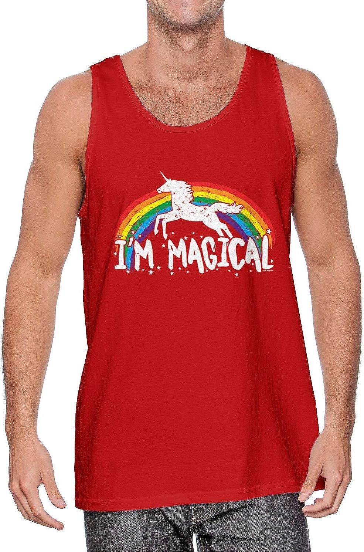 Rainbow Unicorn Magic Mens Tank Top Im Magical