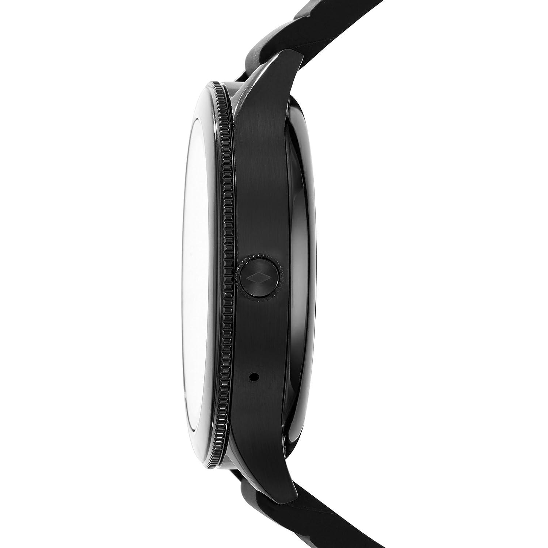 Smartwatch Fossil Q Venture Gen 3 Unisex, Caja de acero inoxidable negro con correa de silicona negra, Compatible con Android e iOS: Amazon.es: Relojes