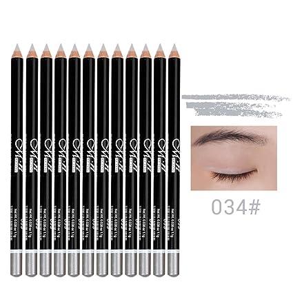 kanzd menow 12 colores larga duración sombra de ojos delineador de labios lápiz de ojos impermeable