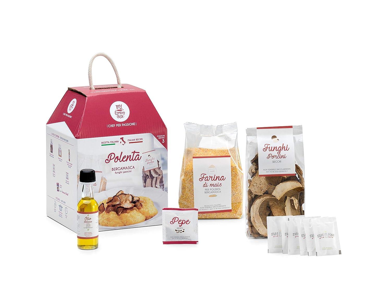 POLENTA CON FUNGHI PORCINI My Cooking Box x3 porzioni - Idea Regalo