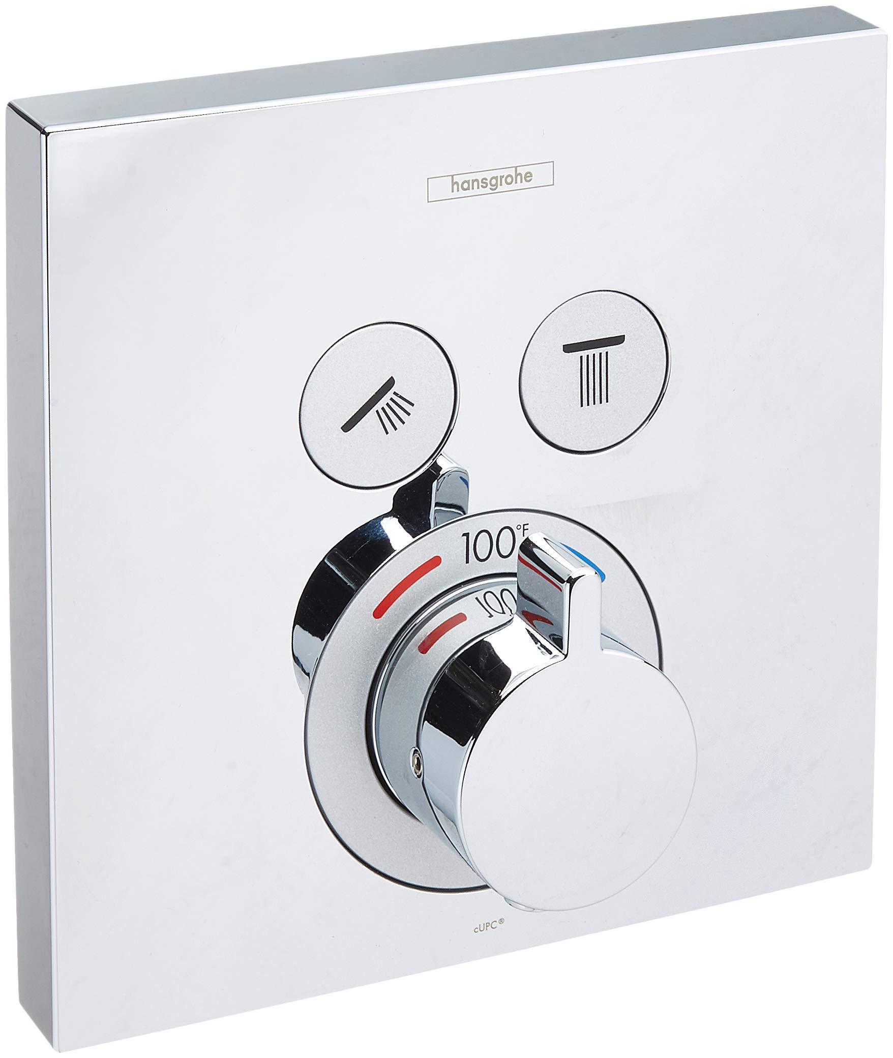 Hansgrohe 15763001 Thermostatic Trim 2 Function Finish, Small, Chrome by Hansgrohe